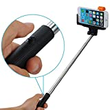 Mobilefox Selfie Stick telescopico Bluetooth/wireless per IOS/Android, Samsung Galaxy S6/S6 edge/S5/S4/S3/A7/A5/A3/Mini/Alpha, ecc. Apple iPhone 6 Plus/6/5S/5 C/5/4S/ 4, Sony Xperia Z4/Z3/Z2/Z3/Compact ecc. HTC One (M7) (M8) (M9)/Mini/Desire 500/820/620 ecc., LG G3/G3 S/G2/G2 Mini/ecc. Motorola Moto G/E/X ecc., Huawei Ascend ecc.