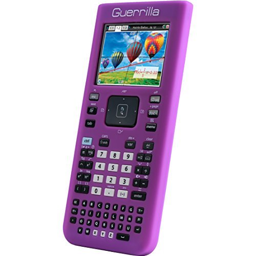 guerrilla-silicone-case-for-texas-instruments-ti-nspire-cx-cx-cas-graphing-calculator-purple-by-guer