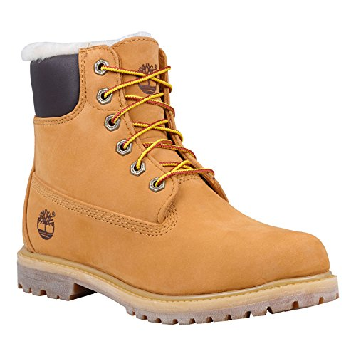 Timberland 6 INCH PREMIUM BOOT SHEARLING LINED donna wheat waterbuck