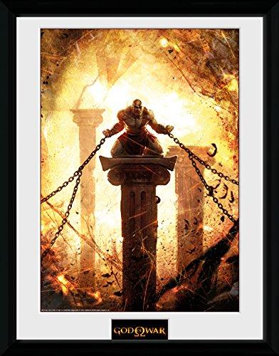 GB Eye Ltd, Gott des Krieges, Kratos angekettet Kunstdruck, gerahmt, 30x 40cm