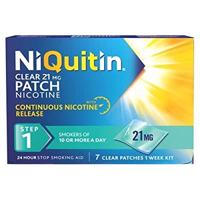 NiQuitin 21mg Clear 24 Hour 7 Patches Step 1 - PACK OF 2 [Personal Care] from Niquitin