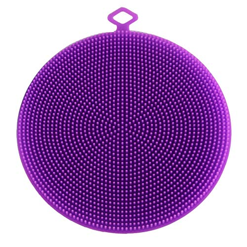 Silikon-Reinigungsbürste de-horned waschen Gesicht waschen Gesicht waschen Manpore manuelle Reinigung Bürste Schönheit Werkzeug Silikon Badebürste 13 x 13 x 3cm 1 Round-Purple
