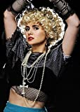 los años 80 Madonna Style joya Cruz collar conjunto