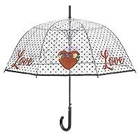 PERLETTI love automatic dome umbrella 89 cm transparent