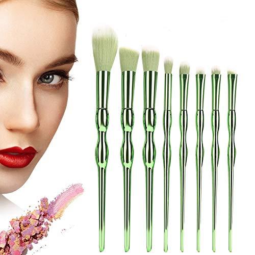 8 stücke Kosmetik Pinsel, tragbare Lidschatten Foundation Puder Pinsel Set Highlight Blush Kit...