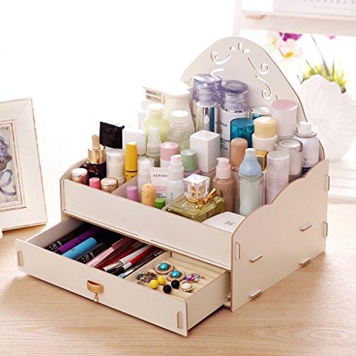 RLF LF Hölzerne Aufbewahrungsbox Für Wohnaccessoires Kosmetik Desktop-Bearbeitung Schmuckkästchen Kommode Makeup Box Dekoration Von RLF.LF,White,31.5*24*31Cm (Mesh-schublade-storage Box)