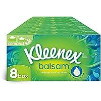Kleenex Balsam Box Fazzoletti Lenitivi ed Emollienti, 8 Confezioni da 80 Veline