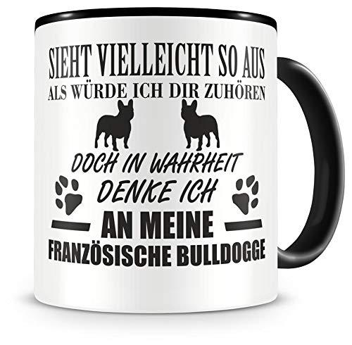 Samunshi Ich denke an meinen Französische Bulldogge Hunde Tasse Kaffeetasse Teetasse Kaffeepott...