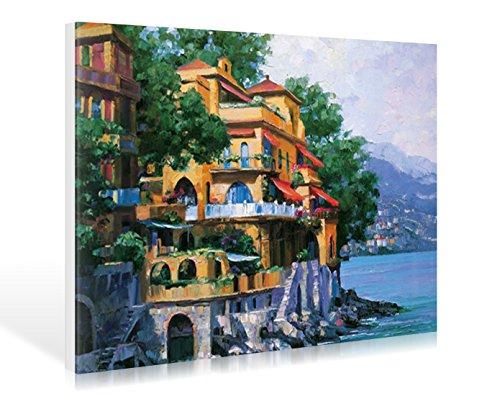 Leinwandbild Howard Behrens - Portofino Villa - 57 x 40cm - Premiumqualität - MADE IN GERMANY - ART-GALERIE-SHOPde -