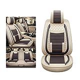 YE Sitzbezügesets Autositzbezug Bettwäsche 5 Sitze Allzweckkompatibel Split Rear Seat Fit Meisten Auto, LKW, SUV, oder Van (Farbe : Dark Coffee, größe : Standard)