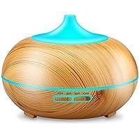 URPOWER 300ml Aroma ätherisches Öl Diffusor, Ultraschall-Luftbefeuchter mit Farbe LED-Leuchten & 4 Timer-Einstellungen... preisvergleich bei billige-tabletten.eu