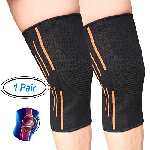mumugo Kniebandage, 1Paar (2Stück), für Arthritis und Erholung nach Verletzungen, Fitness, Fahrrad, Sport.