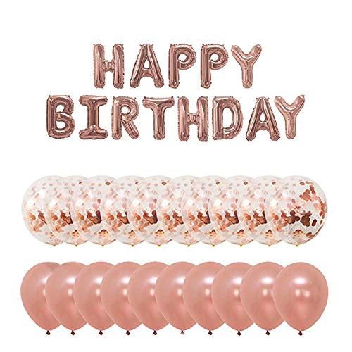 Dylandy Globos de látex Coloridos Globos con Confeti Dorado para cumpleaños Boda Fiesta decoración