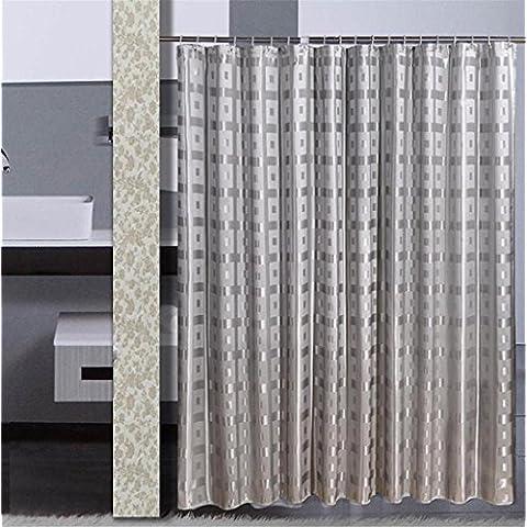 GYMNLJY Doccia tenda jacquard muffa impermeabile spessa cortina Bagno Doccia Ombra per vasca da bagno tagliato Hanging tenda ,