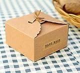 Gazechimp 12er Braun Kraftpapier Geschenk Boxen Geschenkboxen Hochzeit Weihnachten Pralinenschachtel Geschenkverpackung Tüten für süßigkeiten Karton