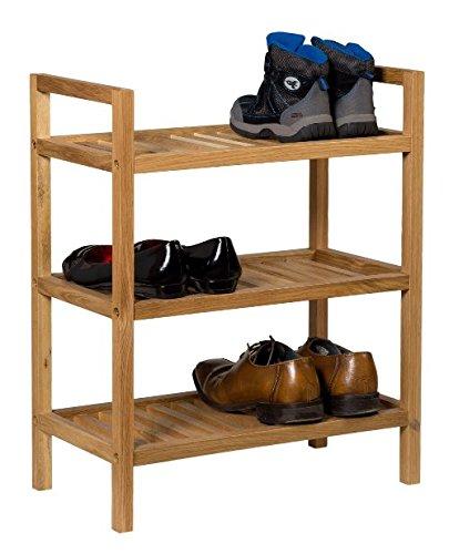 Waverly Stapelbares Eichen-Schuhregal, Finish in heller Eiche, passend für 6Paar Schuhe |...