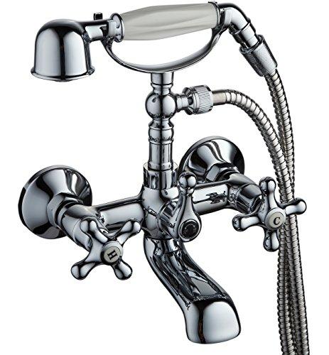 DP Grifería GCC004 – Grifo de baño serie Almendro en cromo color plateado