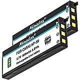 2x Minadax® qualitaets Batterie avec véritable 800mAh pour Casio EX V8, v7sr, Exilim EX v8sr, Exilim V7/Fujifilm X10, comme NP-50–Système de batterie intelligent avec puce