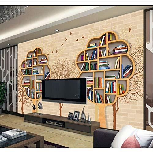 Bücherregal Regal Bäume Wand Fototapete Wandpapier Für Wohnzimmer Tv Hintergrund 3D Wandbild...
