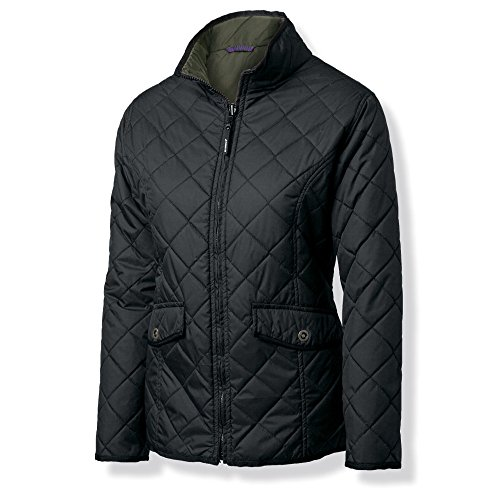 Nimbus Womens/Ladies Leyland Quilted Nylon Padded Reversible Jacket - Womens Quilted Button