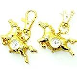BU-119 Süße Ara Taschenuhr Golden Horse Schlüsselanhänger Uhr