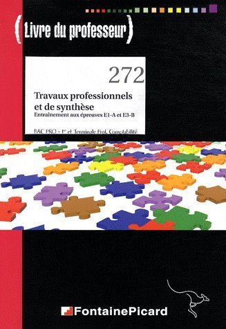 Travaux professionnels et de synthèse, entraînement aux épreuves E1-A et E3-B 1e et Tle Bac pro comptabilité : Livre du professeur