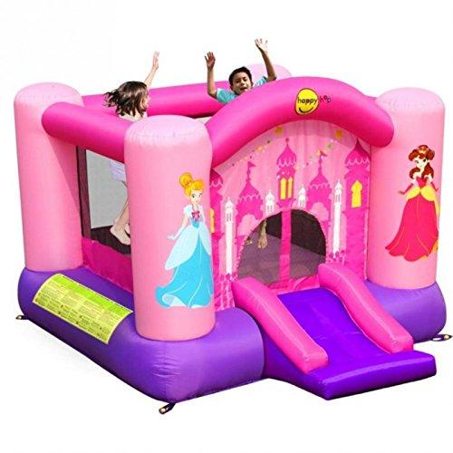 Happy Hop-9201P Princess Slide and Hoop Bouncer, (9201P)