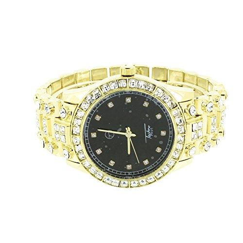 Diamante solitario taglio Princess, Orologio con quadrante, nuovo, colore: nero