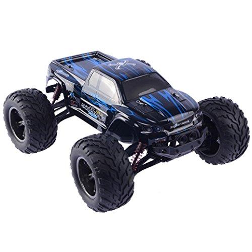 AmaMary Rennwagen, ω⌒ CR 2,4 GHz 1:12 Ferngesteuerte Racing Buggy Auto verrückt Geschwindigkeit RC Off-Road-LKW mit 4-Rad-Stoßdämpfer Leistungsstarke Batterie Aggressive Driften / Stunts Auto (blau)
