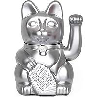 Gatto Fortunato Cinese. Gatto portofortuno. Lucky cat. Maneki Neko. COLORE ARGENTO 12x8x18cm
