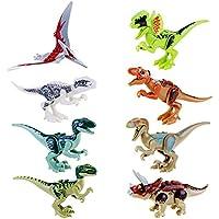 JZK® lebensecht Kleine Spielzeug Dinosaurier Blöcke Figuren Minifiguren, Kopf, Mund, Hände, Füße sind beweglich
