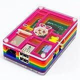 Pimoroni Rainbow PiBow Gehäuse für Raspberry Pi, Regenbogen-Design