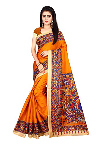 Om sai Latest Creation Cotton Silk Printed Saree with Blouse Piece Material