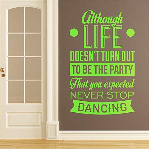 mer Zitat Wandaufkleber, obwohl sich das Leben nicht als die Party für Wohnzimmer Schlafzimmer herausstellt ()