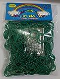 ETHAHE 600pcs Loom Bands Elastiques Vert Foncé sans Latex Bracelet à Tricoter avec 24 S-Attaches