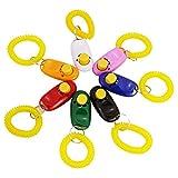 Bestland 7 Farben-Knopf Hunde Clicker mit Handgelenkband für Clicker Training