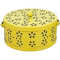 Wakauto Porta Antizanzare Giardino 15.8cm,Porta Antizanzare Spirale Ruciatore di incenso Tondo in Metallo con Coperchio…