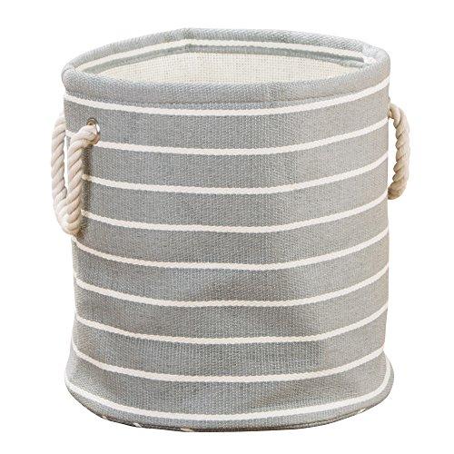 Interdesign 05080EU Luca Corbeille ronde Papier en rotin de coton Gris/Crème 29,21 x 0,254 x 30,48 cm