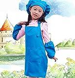 Küchenschürze Kochen Kindergarten Reinigung Schürze Zeichnung Schürze Kinder Schürze Anzüge (blau)