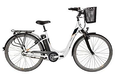 Telefunken E-Bike Damen Elektrofahrrad Alu 28 Zoll mit 7-Gang Shimano Nexus Nabenschaltung, Pedelec Citybike leicht mit Fahrradkorb, Mittelmotor 250W 10Ah, 36V Sitzrohrakku, RC766 Multitalent