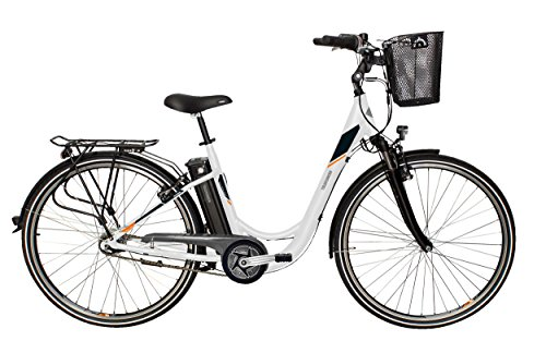 Telefunken E-Bike Elektrofahrrad Alu 28 Zoll mit 7-Gang Shimano Nexus Nabenschaltung, Pedelec Citybike leicht mit Fahrradkorb, Mittelmotor 250W 10Ah, 36V Sitzrohrakku, RC766 Multitalent