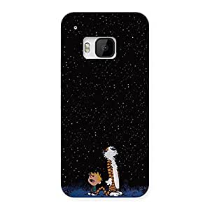 Cute Counting Stars Multicolor Back Case Cover for HTC One M9