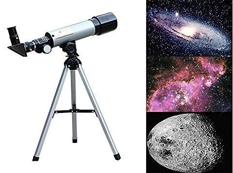 G-Anica® Lunette Astronomique Télescope Réfracteur, 90 X Télescope de Bureau