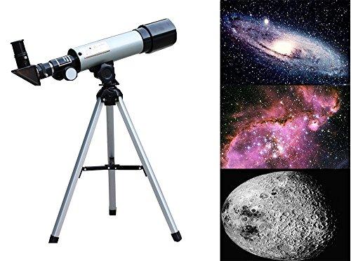 G-Anica® Telescopio Astronomico con Trípode, Telescopio refractor astronómico Ultra-alto Claro De 90 MM Para Telescopio Celestron Adecuado Para La Visualización Terrestre Y Uso Astronómico