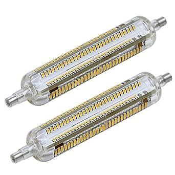 Mengs® - Set di 2 lampadine per lampada a LED, attacco R7s-J118, 10 W, 118 mm, con rivestimento in silicone, 228x3014 SMD, luce bianca fredda, 6.500 K, 220-240 V CA