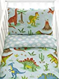 Dinosaurs Reversible Cot Duvet Cover and Pillowcase Set - 90cm x 120cm
