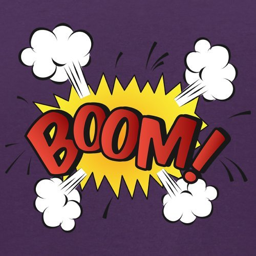 Superheld Boom - Herren T-Shirt - 13 Farben Lila