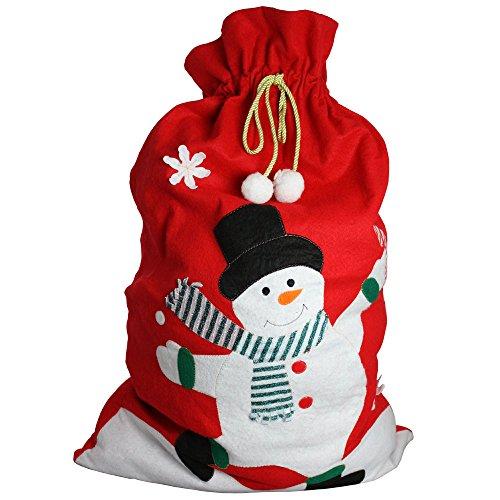 Ebuygb gigante di babbo natale, pupazzo di neve con babbo natale, poliestere, rosso, 36.4x 30.2x 5.99cm