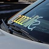 goodlife Oilslick Frontscheiben Aufkleber Auto Farbwechsel Hologramm Glitzer Autoaufkleber JDM Style OEM Sticker VAG Tuning Aufkleber Autoscene Sticker holographic