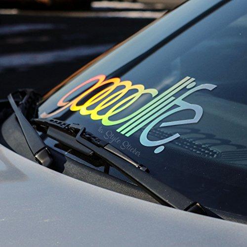 Auto goodlife Oilslick Frontscheiben Aufkleber, Auto Sticker Farbwechsel Hologramm Glitzer Autoaufkleber, Tuningsticker mit Bunter Folie